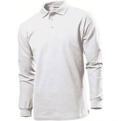 Stedman Polo Long Sleeve Men - White - Large * Kampagne *