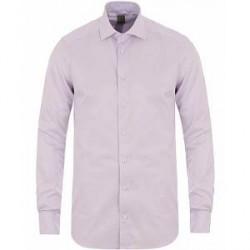 Stenströms 1899 Slimline Supima Cotton Twofold Twill Stripe Shirt Purp