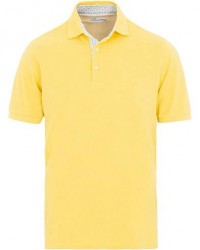 Stenströms Contrast Cotton Polo Yellow men M