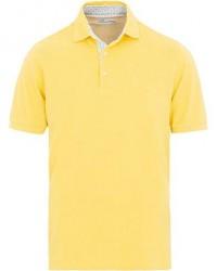 Stenströms Contrast Cotton Polo Yellow men XL