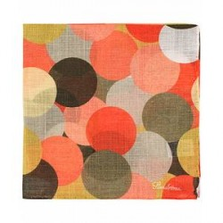 Stenströms Cotton/Linen Dot Pocket Square Beige