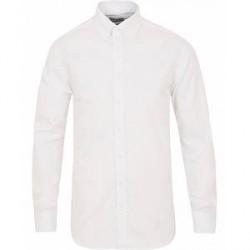 Stenströms Fitted Body Button Down Shirt White