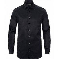 Stenströms Fitted Body Shirt Black