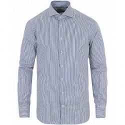 Stenströms Fitted Body Stripe Shirt White/Blue
