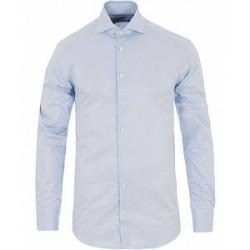 Stenströms Fitted Body Thin Stripe Shirt White/Blue