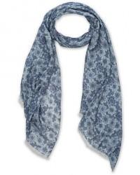 Stenströms Flower Printed Modal Cashmere Scarf Blue men One size Blå