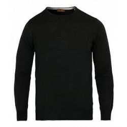 Stenströms Merino Crew Neck Pullover Black