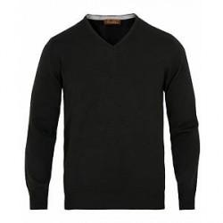 Stenströms Merino V- Neck Pullover Black
