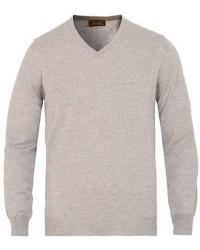 Stenströms Merino V- Neck Pullover Light Grey men XXXL