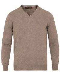 Stenströms Merino V- Neck Pullover Mud Brown men XL