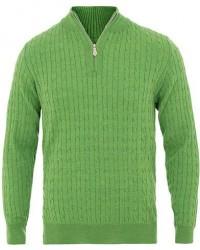 Stenströms Merino Wool Cable Half Zip Light Green men M