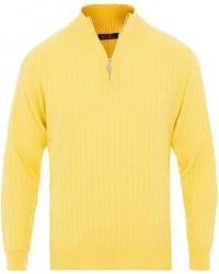 Stenströms Merino Wool Cable Half Zip Yellow men XL