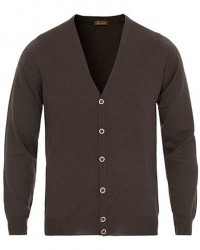 Stenströms Merino Zegna Knitted Cardigan Brown men XXL Brun
