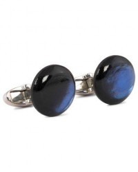 Stenströms Mother of Pearl Cufflink Dark Blue men One size Blå