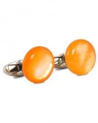 Stenströms Mother of Pearl Cufflink Orange men One size Orange