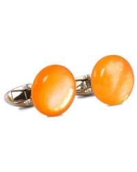 Stenströms Mother of Pearl Cufflink Orange men One size Orange