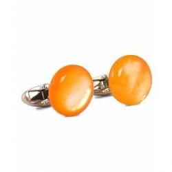 Stenströms Mother of Pearl Cufflink Orange