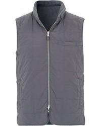 Stenströms Quilted Reversible Wool/Nylon Vest Grey men S