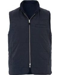 Stenströms Quilted Reversible Wool/Nylon Vest Navy men XL