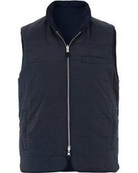 Stenströms Quilted Reversible Wool/Nylon Vest Navy men XXL