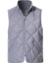 Stenströms Quilted Wool Vest Grey men S Grå