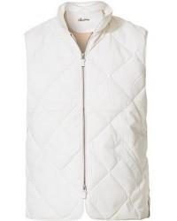 Stenströms Quilted Wool Vest White men L Hvid