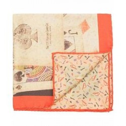 Stenströms Silk Printed Cards Pocket Square Multi