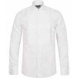 Stenströms Slimline Astoria Stand Up Collar Evening Shirt White