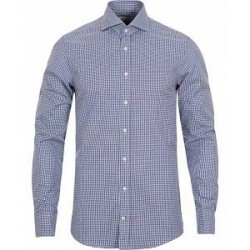 Stenströms Slimline Check Shirt Blue/White