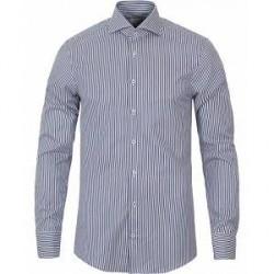 Stenströms Slimline Stripe Shirt Blue/White