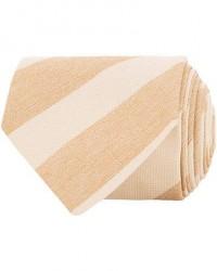 Stenströms Striped Silk Cotton Tie Beige men One size Beige