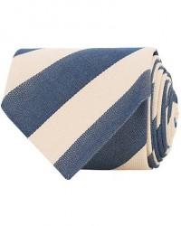 Stenströms Striped Silk Cotton Tie Blue men One size Blå