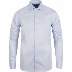 Stenströms Superslim Plain Shirt Blue