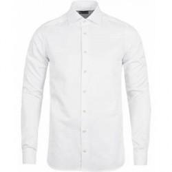 Stenströms Superslim Plain Shirt White