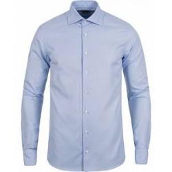 Stenströms Superslim Structured Shirt Blue/White