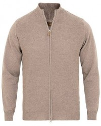 Stenströms Textured Merino Wool Full Zip Beige men L