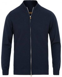 Stenströms Textured Merino Wool Full Zip Navy men L