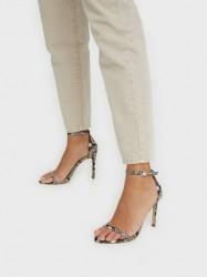 Steve Madden Abby Snake Sandal High Heel