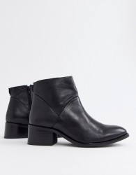 Steve Madden Risen black leather heeled ankle boots - Black