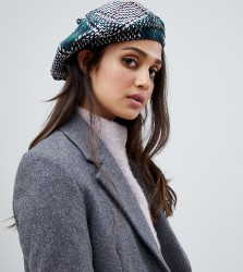 Stitch & Pieces check beret - Multi