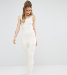 Stitch & Pieces Relaxed Jumpsuit - Beige