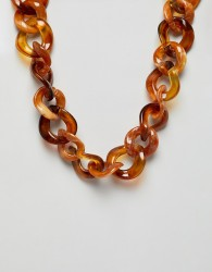 Stradivarius chain carey necklace - Brown