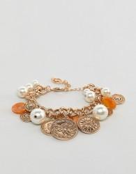 Stradivarius chain coin bracelet - Gold