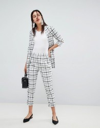 Stradivarius co-ord grid check trousers - Black
