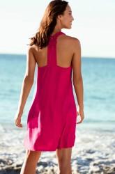 Strandkjole med dekorative skulderstropper