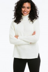 Strikket rullekravesweater