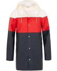 Stutterheim Stockholm Striped Raincoat White/Red/Navy men XL