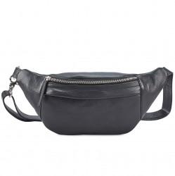 Style Ghana, Cool bæltetaske i flot skind. Stilren taske med tre store udvendige rum