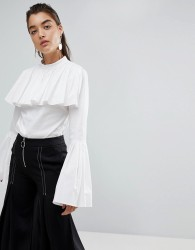 Stylemafia Gianni Fluted Sleeve Top - White