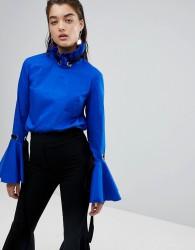 Stylemafia Jahar High Neck Top - Blue